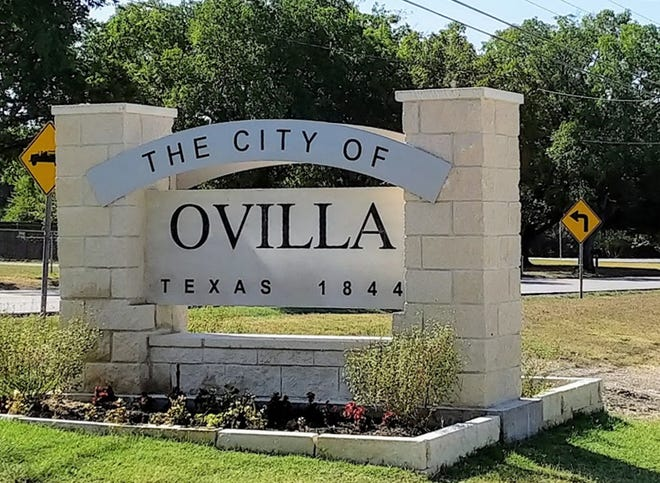 A sign welcomes visitors to the city of Ovilla. The Ellis County community has been named in a study as one of the four safest small cities in Texas.