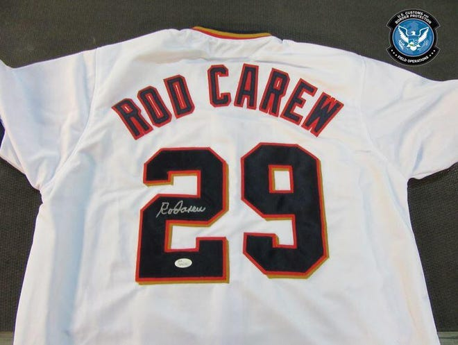Officers in Cincinnati seized 200 counterfeit jerseys worth more than $42,500 if they were legitimate, officials said.