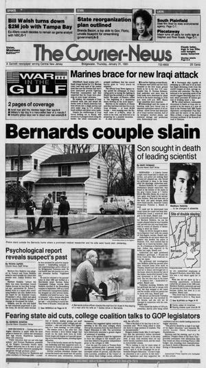 The front page of The Courier-News on Jan 31, 1991.