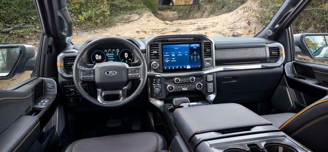 Interior 2021 Ford F-150 Tremor.