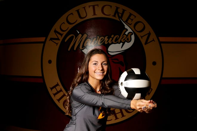 McCutcheon's Chloe Chicoine is the 2020 Journal & Courier Big School Volleyball Player of the Year.