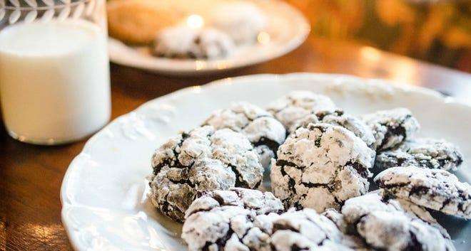 Virginia Willis' Chocolate Snowcap Cookies