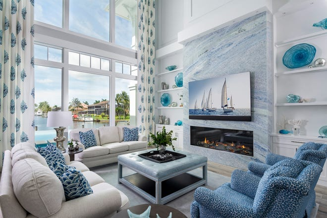 The most recent project completed by Jinx McDonald Interior Designs, Inc. (JMID) is centered around unobstructed views of the water, the client's goals for the next chapter of her life and her favorite color.