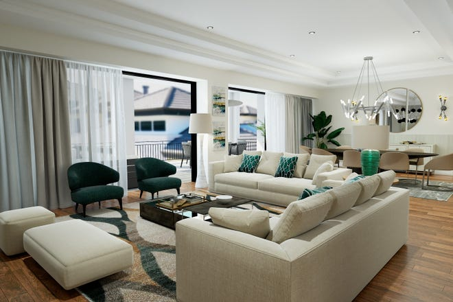 Quattro at Naples Square in downtown Naples features ten spacious two, three, and four-bedroom plus den open-concept, single-story floor plans ranging from 2,310 to 3,875 total square feet and priced from $1.3 million.