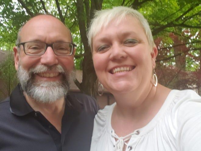 Percella Gualtiera (right) with husband Jim.