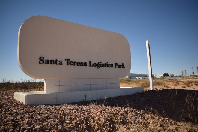 Entrance to Santa Teresa Logistics Park on Airport Road.