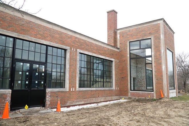 Plymouth Township's Phoenix Mill on Northville Road shows its new windows and doors installed in this file photo from late 2020.