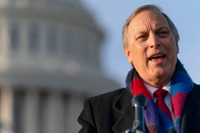 Freedom Caucus chairman Rep. Andy Biggs, R-Ariz., speaks on Capitol Hill on Dec. 3, 2020, in Washington, D.C.
