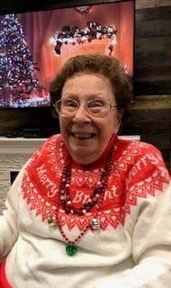 Marjorie Waggoner around Christmas 2019.