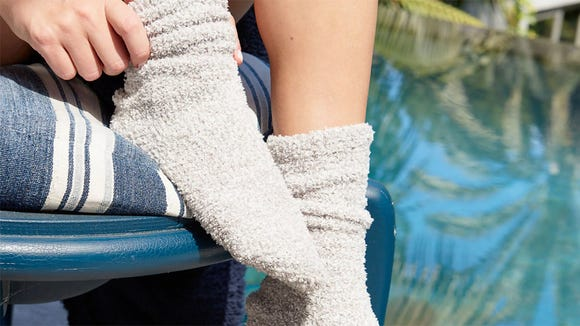 Best gifts for wives 2020: Barefoot Dreams CozyChic socks.