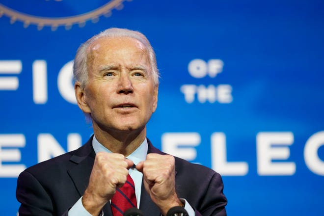 President-elect Joe Biden had the most ambitious plan addressing the climate crisis ever proposed by a major party nominee for president, writes David Hastings. Now he says it is up to Biden to deliver as president. [Patrick Semansky/Associated Press]