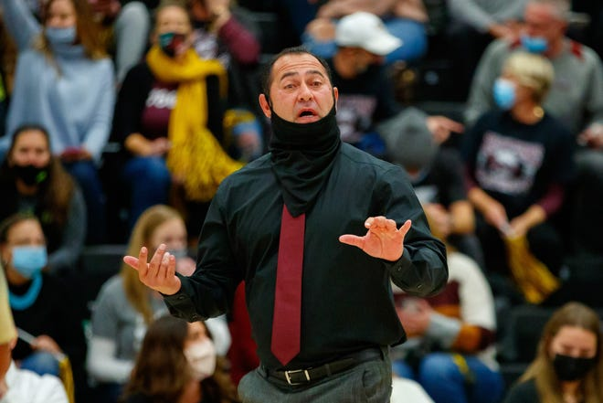 """Dripping Springs head coach Michael Kane, giving directions during the Tigers' playoff win over New Braunfels Canyon, said he's """"excited for what we have coming back"""" next season after his youthful squad lost to Fulshear in the Class 5A state semifinals."""