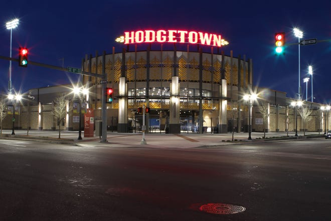 This is the entrance to Hodgetown from behind home plate, where the Amarillo Sod Poodles play. The Sod Poodles announced Wednesday they have received an invitation to become an affiliate of the Arizona Diamondbacks.