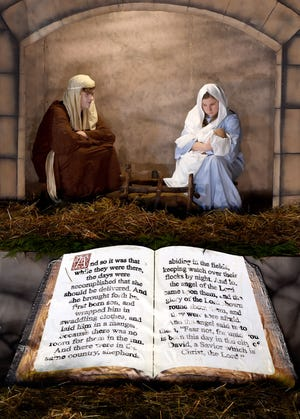 Actors will again reenact the biblical nativity scene outside National Hills Baptist Church in Augusta.