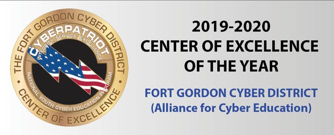 Fort Gordon Cyber District named 2019-2020 CyberPatriot Center of Excellence of the Year