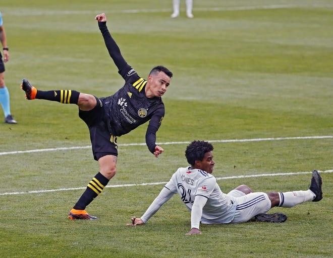 Crew midfielder Lucas Zelarayan (10) was a known quantity as a player, but team executives and players rave about how his off-field persona has elevated the team to a championship contender.
