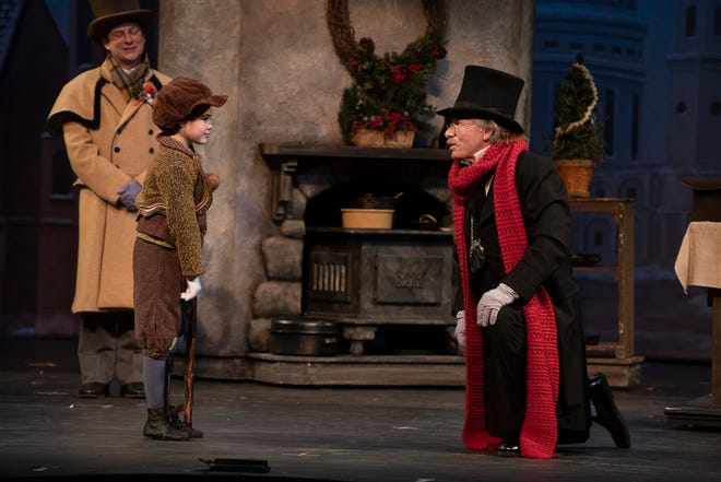 """A scene from the Nebraska Theatre Caravan's special adaptation of """"A Christmas Carol."""" which is available for download today through Jan. 3 at www.capa.com"""