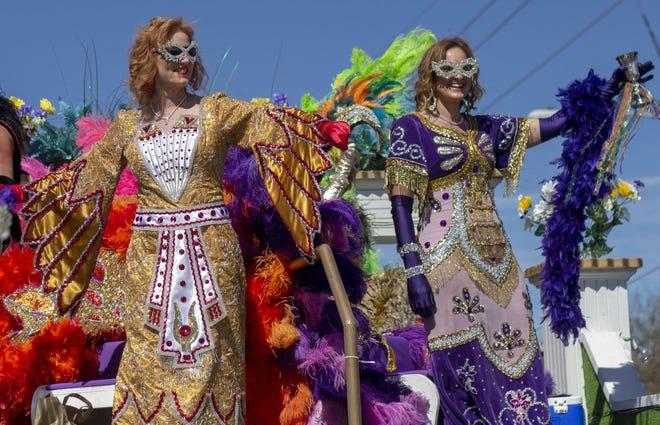The Krewe of Hyacinthians parade during Mardi Gras 2020.