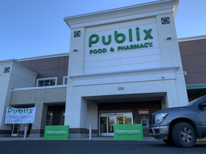 Signs touting Saturday, Dec. 12, as the opening day of the newly expanded Publix grocery store at The Trails Shopping Center in Ormond Beach can be seen on Tuesday, Dec. 8. The doors will open to the pubic at 7 a.m. The store had been closed for the past year for an extensive renovation that included taking over the 12,000-square-foot former CVS store space next door.
