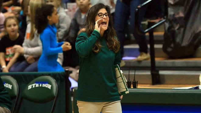Lynn Bria and her Stetson University women's basketball team are ready to start the season Thursday, Dec. 10, 2020, against Edward Waters College at 1 p.m. at the Edmunds Center. The Hatters' season was delayed because of a COVID-19 outbreak.