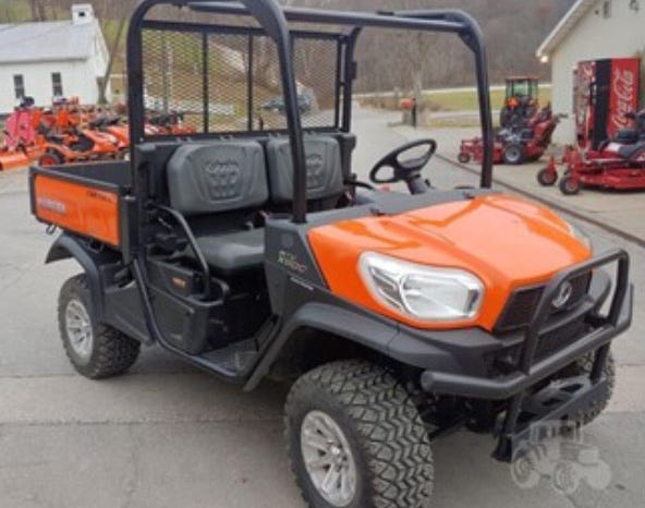 New York State Police say a Kubota RTV 900 utility vehicle like the rig shown here was stolen last Saturday from a dealership in Woodhull.