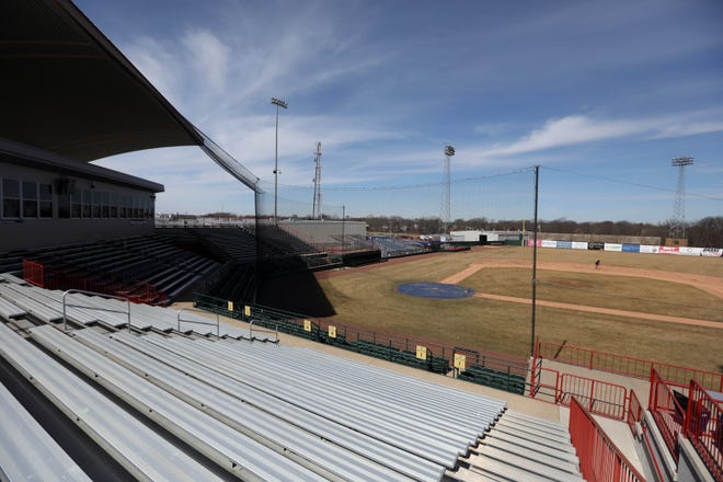 The bleachers seen March 13 at Community Field remained largely empty this past season thanks to COVID-19. The next time fans head to the field, it won't be to watch Minor League Baseball.