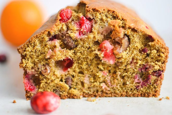 There are ways you can savor the culinary delights of the holidays, like this ginger orange cranberry bread, and still be healthy.
