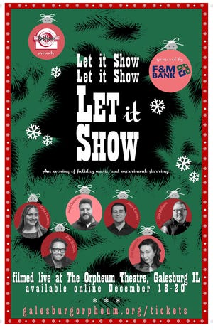 "The Orpheum Theatre's production of ""Let it Show, Let it Show, Let it Show"" will be available as a private YouTube showing Dec. 18, 19 and 20."