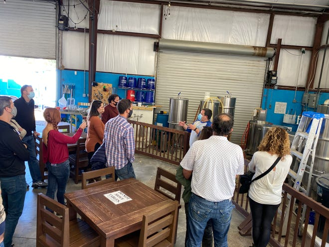 Gary Glancy's The Brewery Experience is a brewery touring company that loads up groups of beer enthusiasts into vans and shows them a good time at all the best breweries in Hendersonville.