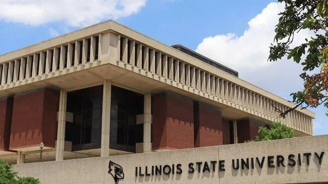 Enrollment at Illinois State University in Normal was down slightly less than 1% this fall compared to the same period in 2019.