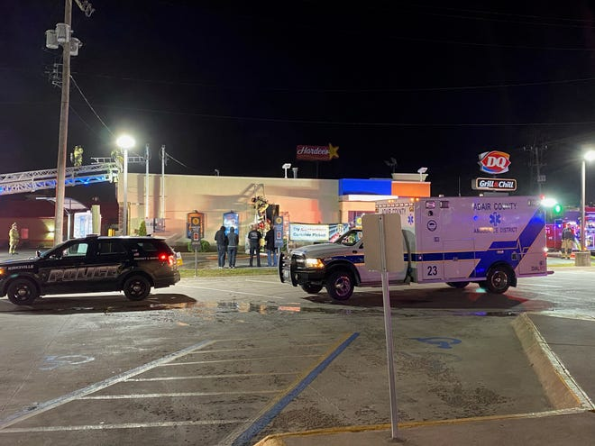 Members of the Kirksville Fire Department extinguished a fire at Dairy Queen on Tuesday night.