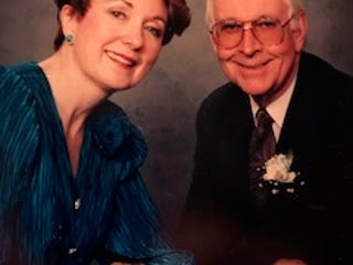 """Patricia Smith (left) and John Paul (right), married for 31 years, had a loving marriage, one with no """"harsh words between us, which is a really lovely thing,"""" Smith said."""