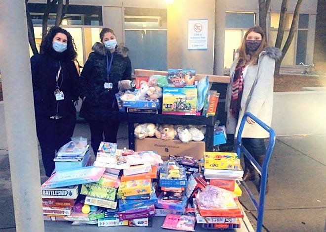 Christina's Holiday Gift Drive delivers toys and games to Cambridge Hospital on Monday, Dec. 7, 2020.