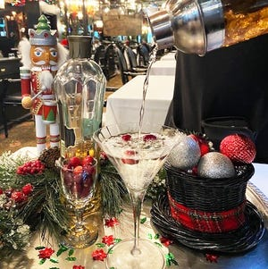 The Chesterfield's Leopard Lounge is featuring a holiday cocktail called Winter Wonderland.