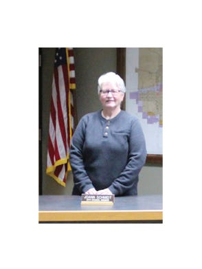 Ward1 CityCouncilor for 20 years, Joann Schmidt's final regular city council meeting was Tuesday, Dec. 8. That meeting was held virtually, but Schmidt agreed to pose for a photo in the City Council Chambers in City Hall.