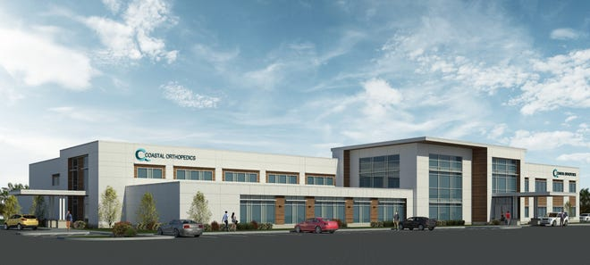 A rendering of Coastal Orthopedics new medical center and headquarters on State Road 64. Work is scheduled to begin in January 2012.
