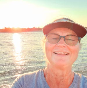 """Oak Island author Cindy Horrell Ramsey, whose new book, """"Trying Not to Drown,"""" was inspired by the trials of Hurricane Florence."""