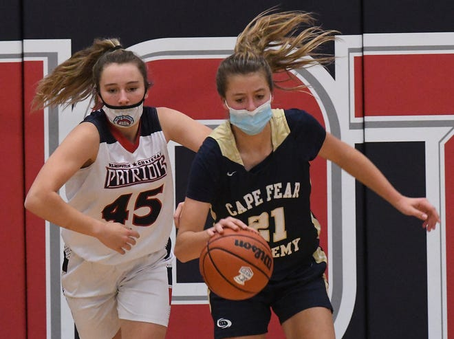 A basketball game in North Carolina between Wilmington Christian Academy and Cape Fear Academy on Dec. 8 featured players wearing masks while in the game. In Virginia, the VHSL required masks but then rescinded that requirement. Basketball games have yet to begin in Virginia public schools.