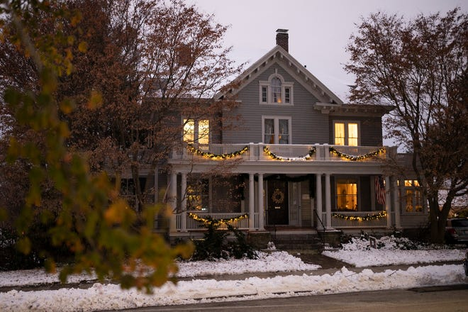One of the more than 100 homes participating in Preservation Worcester's Door to Door Holiday Tour.