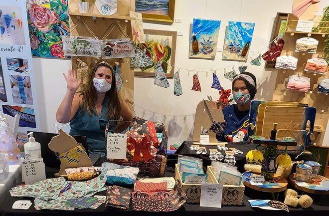 Vendors, artists and crafters sold handmade items from their tables while practicing social distancing and wearing masks.