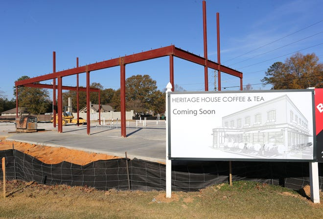 A new Heritage House coffee shop is going up at the corner of The Townes and Rice Mine Road in Tuscaloosa Wednesday, Dec. 9, 2020. [Staff Photo by Gary Cosby Jr.]