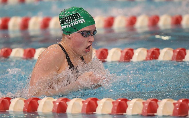 Ellie Andrews and the Coffman girls swimming and diving team hope to defend their Division I state title. Andrews also won individual titles last season in the 200-yard individual medley and 100 breaststroke.