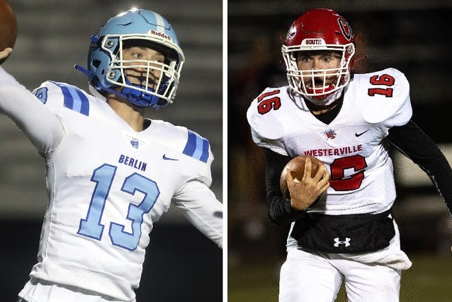 Olentangy Berlin quarterback Jacob Moeller and Westerville South quarterback Peter Pedrozo were named first-team all-state in Division II.