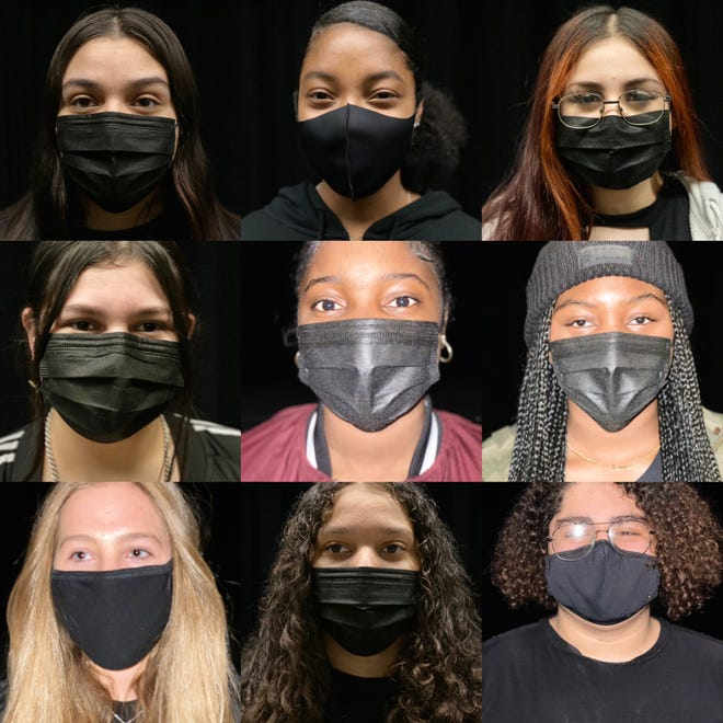 """Cast members of Victor Valley High School's original production, """"The Day the World Stopped."""" The play tackles the coronavirus pandemic and was co-written by students."""