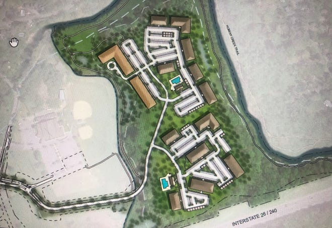Catalyst Capital Partners in Charlotte plans to build 660 apartments in 14 buildings at 20 South Bear Creek Road in West Asheville.
