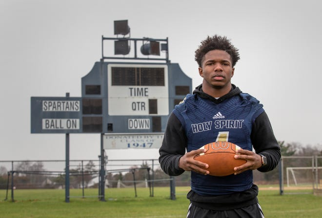 """Holy Spirit senior Patrick """"Cheeks"""" Smith, the South Jersey Offensive Football Player of the Year."""