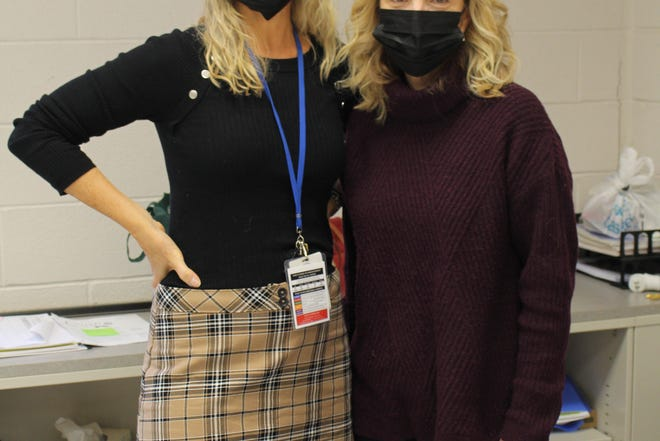 Christine Cirrotti and Dannine Albanese are proud of their students for having the courage to share their talents with their homeroom.