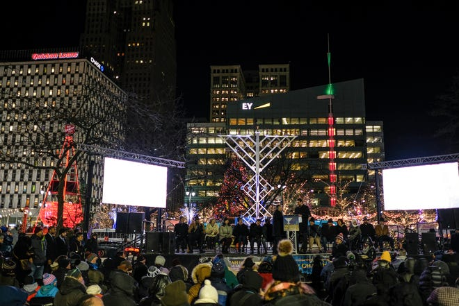 The Menorah in the D lighting ceremony typically draws large crowds to Campus Martius, but is being scaled back this year as a result of COVID-19.