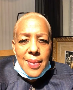 Perwakilan Negara Bagian Cynthia Johnson, D-Detroit, berbicara dalam video Facebook pada hari Selasa, 8 Desember 2020.