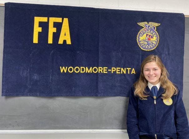 Grace Draeger competed in the FFA State Job Interview contest.